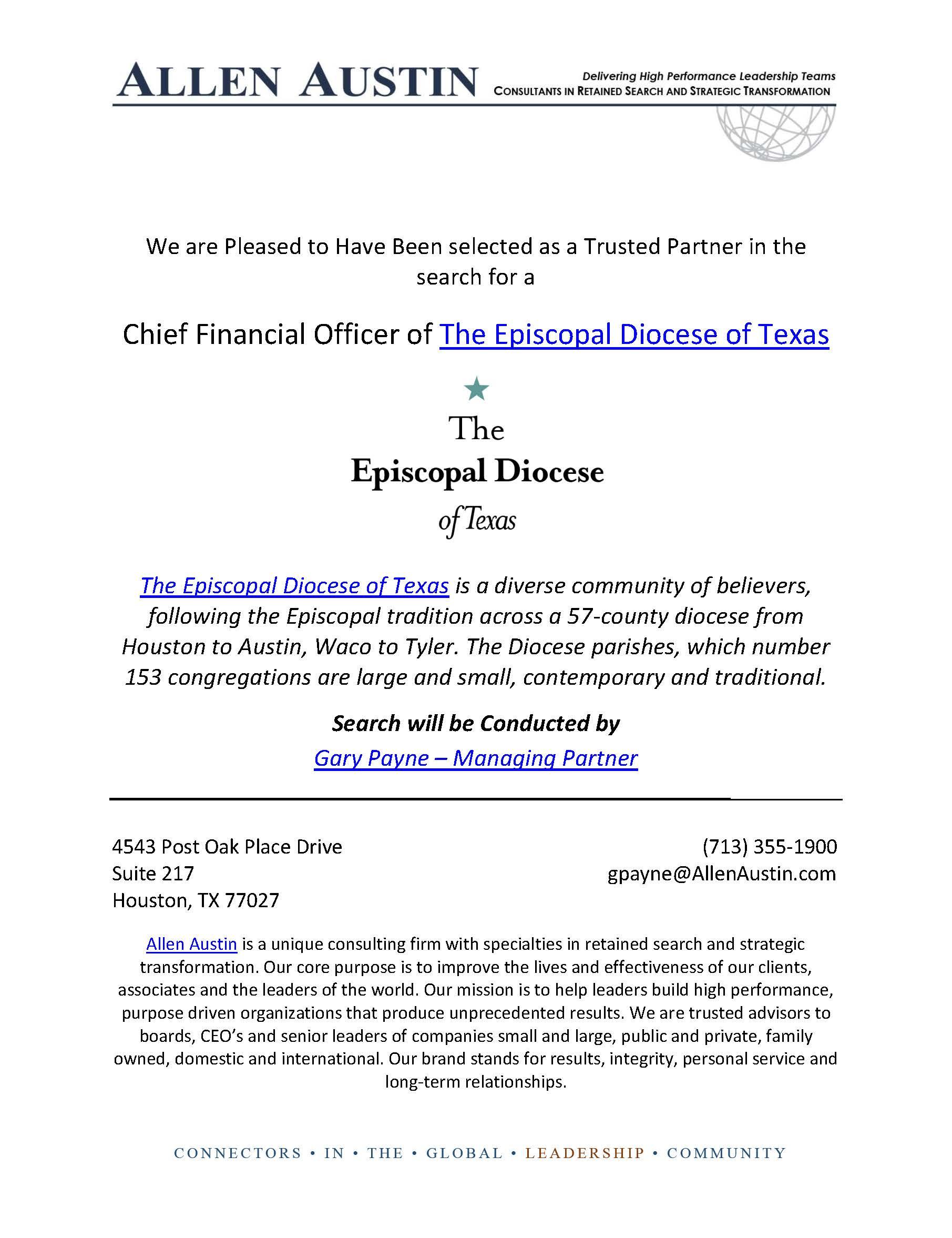 Episcopal Diocese CFO